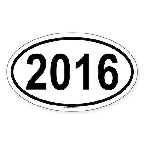2016 Oval Sticker