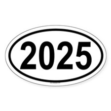 2025 Oval Decal