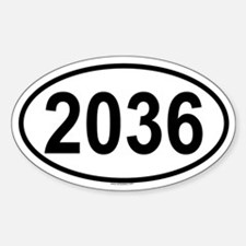 2036 Oval Decal