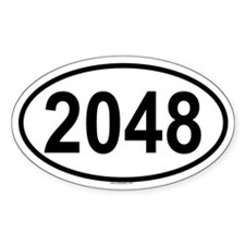 2048 Oval Decal