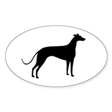 Greyhound Dog Oval Decal