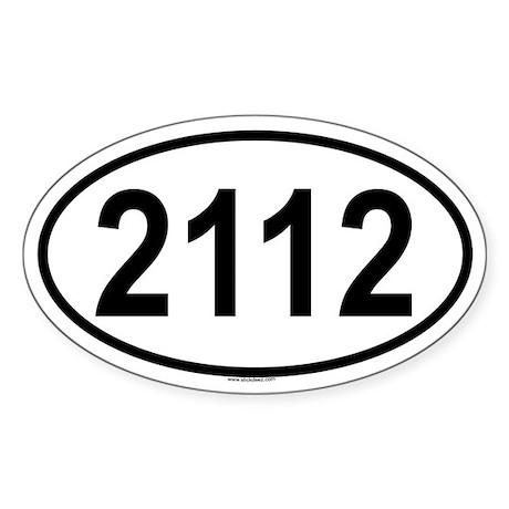 2112 Oval Sticker