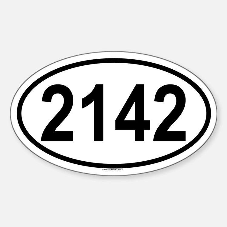 2142 Oval Decal