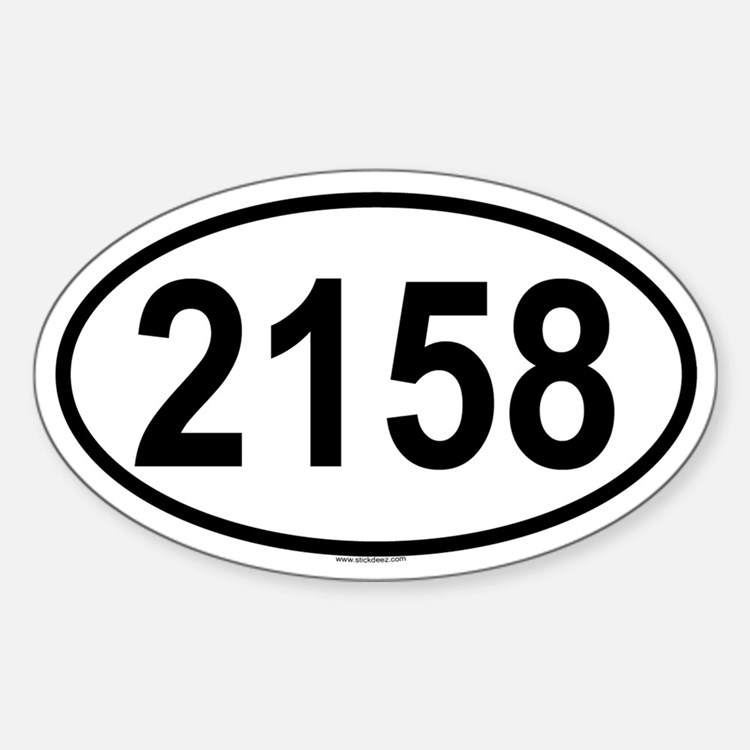 2158 Oval Decal