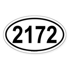 2172 Oval Decal
