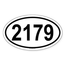 2179 Oval Decal