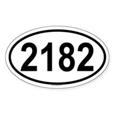 2182 Oval Decal