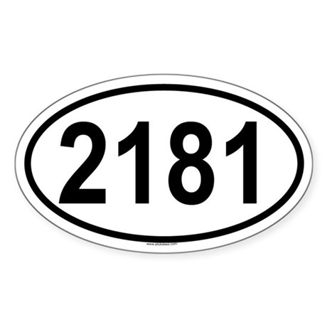 2181 Oval Sticker