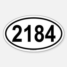 2184 Oval Decal