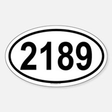 2189 Oval Decal