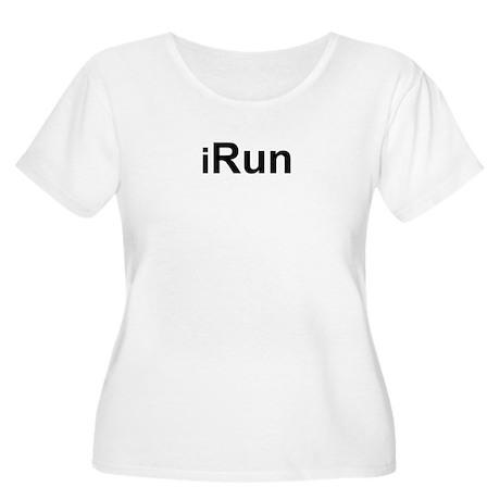 iRun Women's Plus Size Scoop Neck T-Shirt