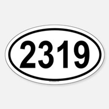 2319 Oval Decal