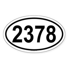 2378 Oval Decal