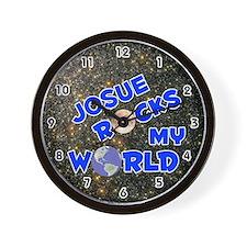 Josue Rocks My World (Blue) Wall Clock