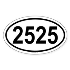 2525 Oval Decal