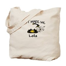 Call Lola with Black Phone Tote Bag