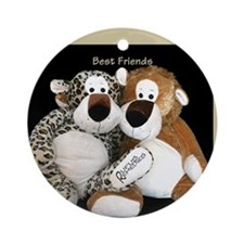Leopard Best Friends Ornament (Round)