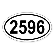 2596 Oval Decal