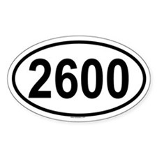 2600 Oval Decal