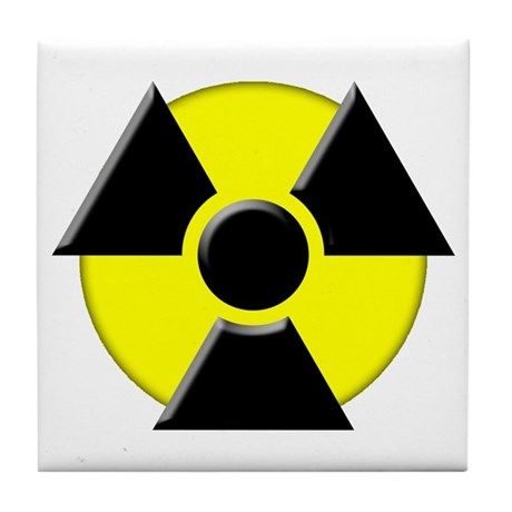 3d radioactive symbol tile coaster by radioactive3d - Radioactive coasters ...