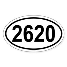 2620 Oval Decal