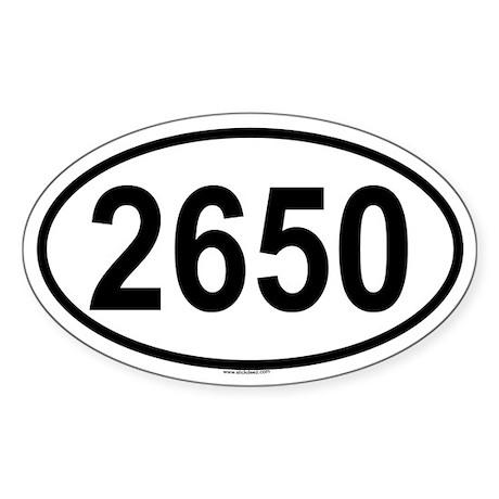2650 Oval Sticker