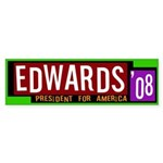 Edwards '08 for America bumper sticker