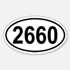 2660 Oval Decal