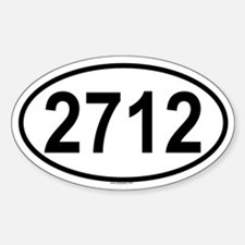 2712 Oval Decal