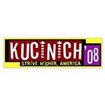 Kucinich '08: Strive Higher Bumper Sticker