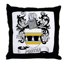 Porter Coat of Arms Throw Pillow