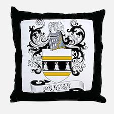 Porter Coat of Arms Throw Pillow