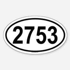 2753 Oval Decal