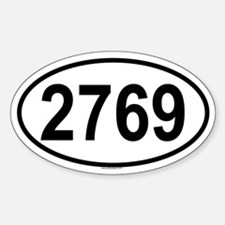 2769 Oval Decal