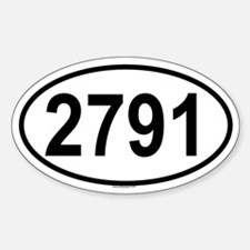 2791 Oval Decal
