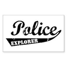 Vintage Explorer Rectangle Decal