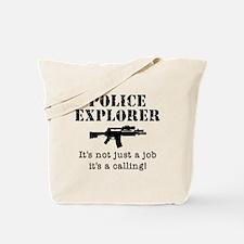 Police Explorer Calling Tote Bag