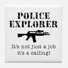 Police Explorer Calling Tile Coaster