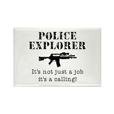 Police Explorer Calling Rectangle Magnet
