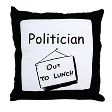 Politician Throw Pillow