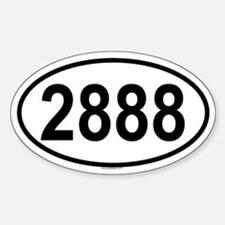 2888 Oval Decal