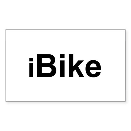 iBike Rectangle Sticker