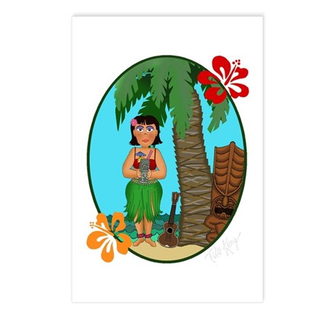 Hula Baby Postcards (Package of 8)
