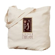 Lithuania Basketball Stamp Tote Bag