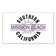 Mission Beach Rectangle Decal