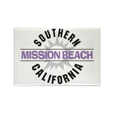 Mission Beach Rectangle Magnet