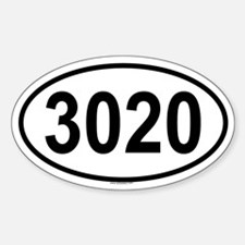 3020 Oval Decal