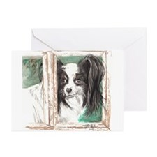 Peeping Papillon Greeting Cards (Pk of 10)
