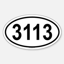 3113 Oval Decal