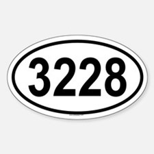 3228 Oval Decal